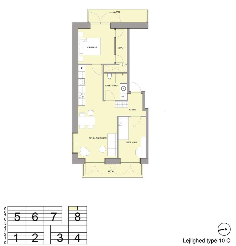 lejlighedsplan
